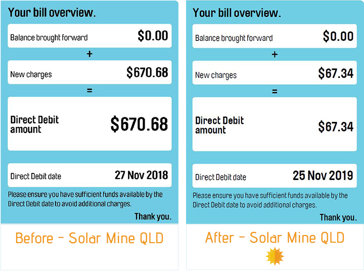 SolarMineQld - Customer Solutions - Richard - AGL Bill Before & After